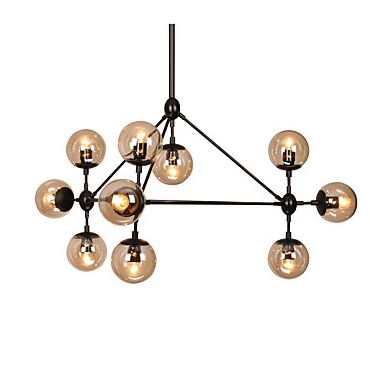 10-Light Sputnik Chandelier Ambient Light Painted Finishes Metal Glass E26/E27 - heparts