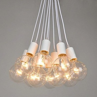 10 Light Cluster Chandelier 110-120V Warm White Bulb Included E26 - heparts