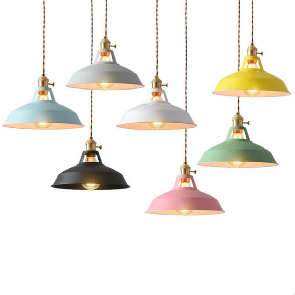 10 inch Macaroon Mini Metal Simplicity Pendant Light Ceiling Lamp Down light E26 - heparts