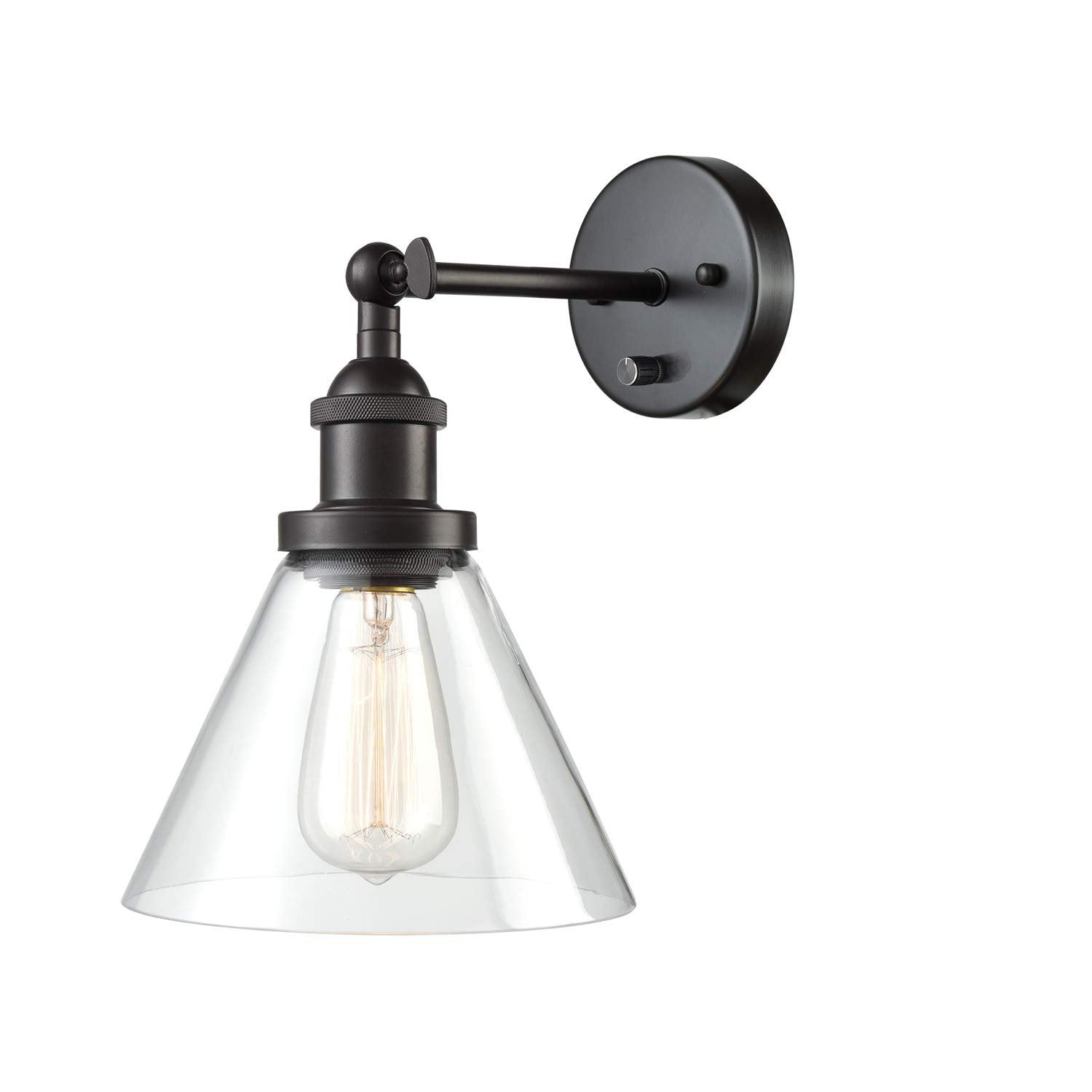 1/2-Lights Plug in On/Off Switch Wall Sconce with Funnel ...