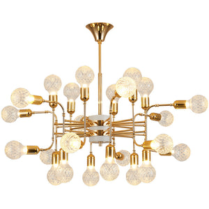 12/16/24 Lights Luxury Sputnik Magic Ball Gold Chandelier Candle-style European Modern Lights LED G9 Base