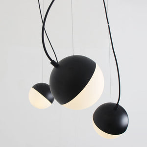 1/3/5 Light Mini Globe Pendant Light Ambient Light DIY Adjustable Black Gold E12 E14 without Bulb - heparts