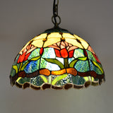 "37 Type 12"" Wide Tiffany Style Hanging Pendant Light Lamp Ceiling 18"" Wide Stained Glass Creative Antique Vintage Decor Baroque Art MAX 60W - heparts"