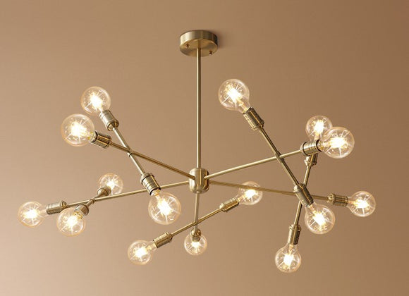 15-Lights Solid Brass Lights Chandelier Ambient Light Mini Style E26/E27 - heparts