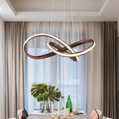 Twist Circular Pendant Light Chandelier Lighting Lamp Ambient Light LED