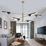 Electroplated Northern Europe Chandelier Modern Metal Molecules Pendant Lights E26/E27 - heparts