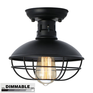 Cap Industrial Ceiling Light Ivalue Mini Semi Flush Mount Ceiling Light Fixture Matel - heparts