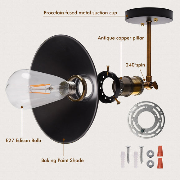 Mini Style Retro Wall Lamps & Sconces Ambient Light Electroplated Metal E26/E27 Edison Bulb