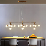 15 Lights Sputnik Chandelier Ambient Light Electroplated Metal Glass LED, New Design G4 - heparts