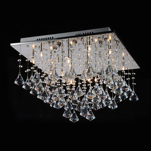 16-Light Crystal Pendant Light Downlight Electroplated Metal Crystal G4 LED Warm White / Cold White Bulb Included - heparts