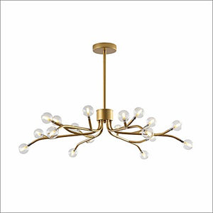 15/18-Lights Candle-style Chandelier Ambient Light Gold Painted Finishes Black Metal Glass LED G4