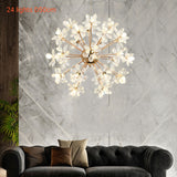 18/24/32 Lights Crystal Flower Chandelier Pendant Light Luxury Creative LED G4