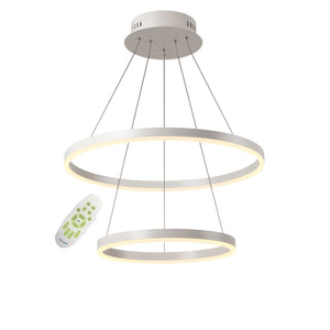 2-Lights Circle Modern Acrylic Simplicity LED Chandeliers Two laps LED Integrated