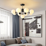 2020 Copper Magic Bean 9-Lights Sputnik Nordic Style Modern Minimalist Chandelier Molecular
