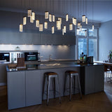 2020 Customizable Cube Crystal LED Integrated Chandelier Dimmable Pendant Lighting Kitchen