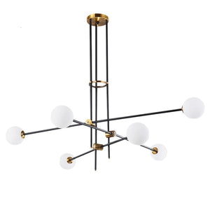 2/3/4/6/9/12 Simplicity Sputnik Pendant Light Chandelier Lighting Lamp Ambient Light - heparts