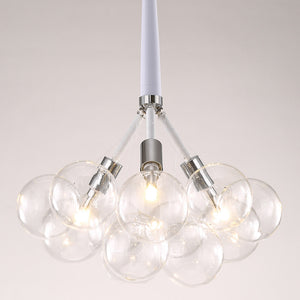 3-6 Lights Glass Ball Pendant Light Nordic Creative Living Room E26E27