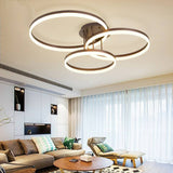 3-Head Modern Simplicity Led Ceiling Lamp LED Integrated Dimmable Flush Mount Lights - heparts