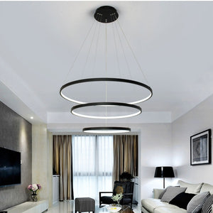 3-Lights Circular Pendant Light Chandelier Lighting Lamp Ambient Light Dimmable Remote Control - heparts