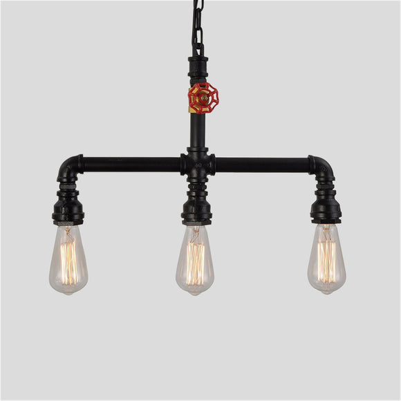 3-Lights Vintage Industrial Pipe Pendant Lights