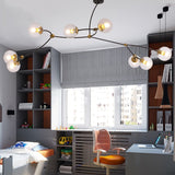 3/4/8 Wifi-Smart Lights Sputnik Globe Glass Chandelier Ambient Light Painted Finishes E26E27 - heparts
