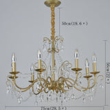 3/6/8 Gold Candle-style Chandelier / Chandeliers Uplight / Ambient Light Electroplated Crystal, Candle Style 110-240V Bulb Not Included / E12 / E14 - heparts