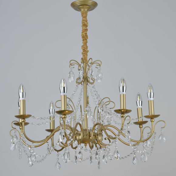 3/6/8 Gold Candle-style Chandelier / Chandeliers Uplight / Ambient Light Electroplated Crystal, Candle Style 110-240V Bulb Not Included / E12 / E14