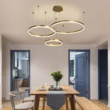 3 Rings Modern LED Pendant Lights Suspension Lighting for Dinning Room Foyer Bedroom Hanging Lamp 90-265V - heparts