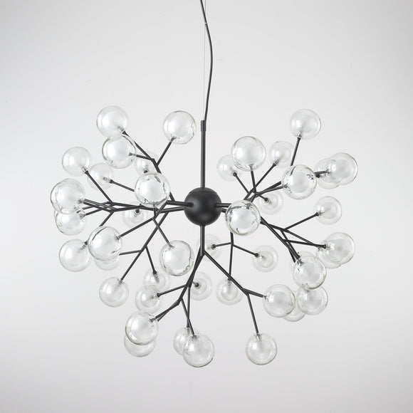 9/27/36/45/54/63-Lights Globe Glass Novelty Sputnik Chandelier Ambient Light Painted Finishes Metal Glass Creative Bulb Included G4