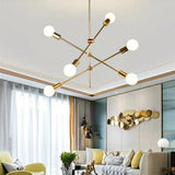 4/6/8-Light Sputnik Pendant Light Chandelier Lighting Lamp Ambient Light - Adjustable