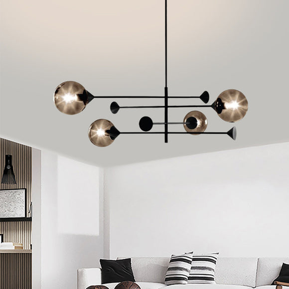 4 lights Sputnik Pendant Light Ball Chandelier Ambient Light Glass Creative E12/E14