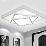 52cm Geometric Pattern Design Modern Style Simplicity LED Ceiling Lamp Metal Flush Mount - heparts