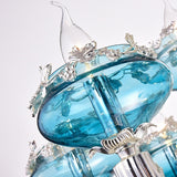 6-10-Lights Heart of the Sea Glass Crystal Candle-style Chandelier Up-light Electroplated 110-240V E12-E14 - heparts