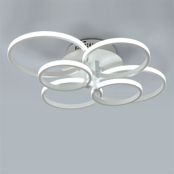 6-Head Flush Mount Lights Modern Simplicity Led Ceiling Lamp Light Fixture LED Integrated - heparts