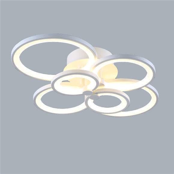 6-Head LED Integrated Modern Style Simplicity Acrylic Ceiling Lamp Flush Mount Light Fixture