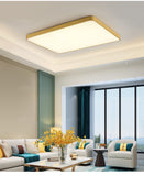 60*40cm Flush Mount Rectangle Lights Downlight Solid Brass PVC Acrylic Mini Style, LED Integrated - heparts