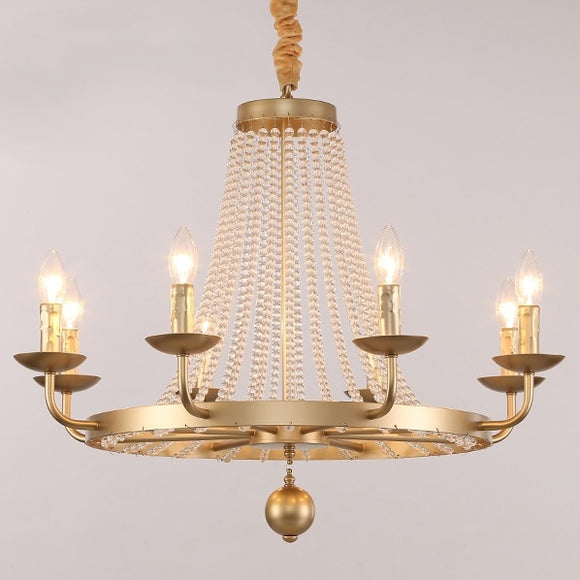 6/8-Light Candle-style Chandelier Up-light Electroplated Metal - heparts