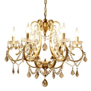 6/8-Lights Crystal Pendant Light Chandelier Candle Light Living Bed Dining Room E12/E14