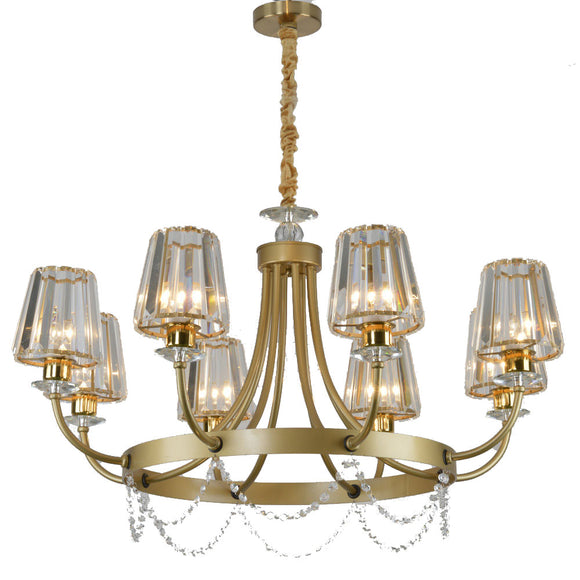 6/8 Gold Candle-style Chandelier / Chandeliers Uplight / Ambient Light Electroplated Crystal, Candle Style 110-240V Bulb Not Included / E12 / E14 - heparts
