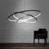 3-Lights Circular Pendant Light Chandelier Lighting Lamp Ambient Light Dimmable Remote Control