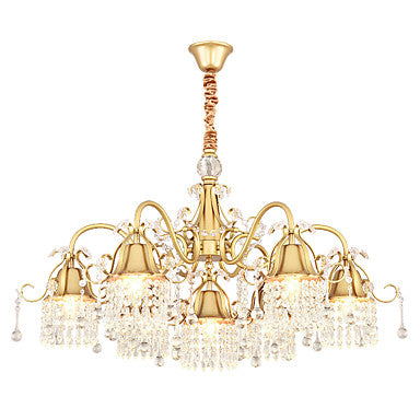 7-Light Novelty Gold Crystal Chandelier Downlight Painted Finishes Metal Creative E12E14 - heparts