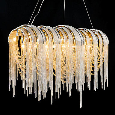 7-Light Pendant Light Ambient Light –Crystal Metal Dimmable E12/E14 - heparts