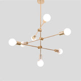 7-Lights Sputnik Modern Electroplated Pendant Lights Fixture Flush Mount E26/E27 - heparts