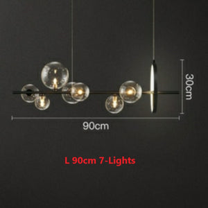 7/10-Lights Modern Nordic Luxury Glass Bubble Restaurant Chandelier Modern LEDG9