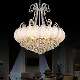 8-Light Gold/Silver Crystal Chandelier Vintage Ambient Light Electroplated Metal E12/E14 - heparts