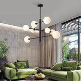 8-Lights Sputnik Pendant Light Chandelier Cluster Ambient Light Electroplated Metal Glass 110-240V Bulb Included - heparts