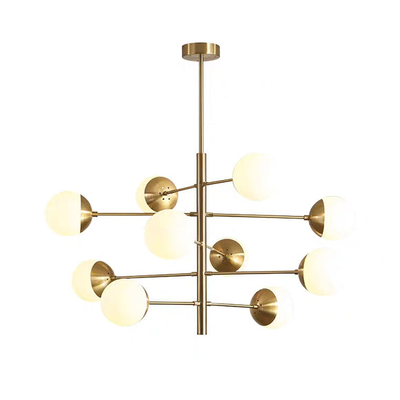 6/8/10 Lights Pure Copper Novelty Sputnik Ball Chandelier Ambient Light Glass Creative E26/E27