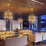 8/12-Lights Modern Sputnik Globe Wave pattern Metal Chandeliers Firework Northern Europe Vintage Candle E12/E14 Bulb base