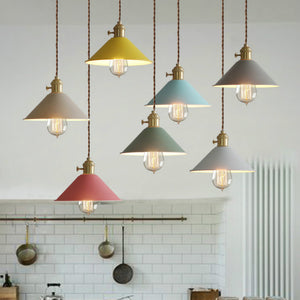8 inch Macaroon Mini Metal Simplicity Pendant Light Ceiling Lamp Down light E26 - heparts