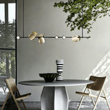 9-Lights Geometric Pendant Light Chandelier Ambient Light Electroplated Painted Metal